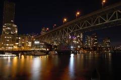 Opini?o da noite da ponte de Granville imagem de stock