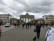 Opini?o da rua de Berlim fotos de stock