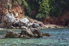 Opini?o Pristine da ba?a de uma ilha de greece fotos de stock royalty free
