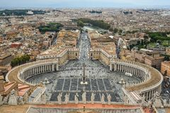 Opini?o a?rea a Cidade do Vaticano imagens de stock