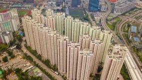 Opini?o a?rea Hong Kong Downtown, a Rep?blica da China Distrito e centros de neg?cios financeiros na cidade esperta em ?sia Vista fotos de stock royalty free