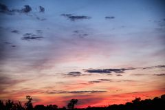 Opiniões do por do sol sobre Texas do leste Imagem de Stock Royalty Free