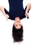 Pulgar encima de upside-down Imagenes de archivo