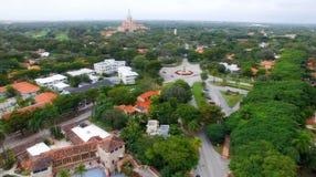 Opinión aérea de Coral Cables, Miami Imagen de archivo