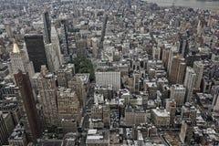 Opinión aérea de New York City Fotos de archivo libres de regalías