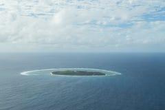 Opinión aérea de señora Elliot Island Foto de archivo libre de regalías