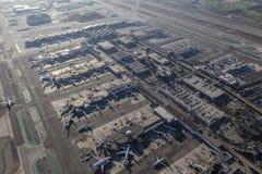 Opinión aérea del aeropuerto internacional de Los Ángeles Fotografía de archivo libre de regalías