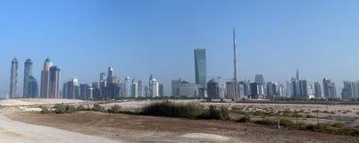 Opinión aérea del horizonte de DUBAI Foto de archivo