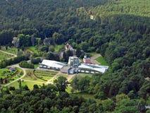 Opinión aérea del jardín botánico de Tallinn Fotografía de archivo libre de regalías