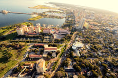 Opinión aérea del St. Pete Foto de archivo libre de regalías
