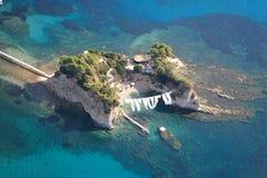 Opinión aérea sobre la isla de Zakynthos Fotografía de archivo libre de regalías