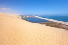 Opinión aérea sobre puerto del bocadillo en Namibia Imagenes de archivo