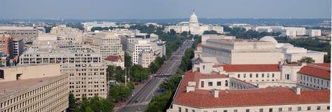 Opinión bird's-eye del Washington DC, panorama Foto de archivo libre de regalías