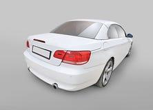 Opinión convertible de la esquina de la parte posterior del coche de BMW 335i Fotografía de archivo