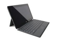 Tableta superficial de Microsoft favorable Imágenes de archivo libres de regalías