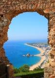 Opinión de Blanes (costa Brava, España) Imagen de archivo