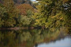 Opinión de Fall River Foto de archivo