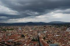 Opinión de Florencia desde arriba Fotografía de archivo