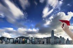 Opinión de Hong Kong Victoria Harbor, Foto de archivo libre de regalías