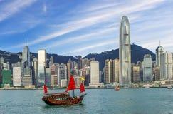 Opinión de Hong Kong Victoria Harbor, Fotos de archivo libres de regalías