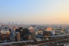 Opinión de la altura del distrito del tennoji Fotos de archivo libres de regalías