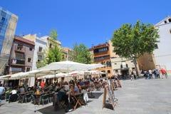 Opinión de la calle de España Barcelona Fotos de archivo
