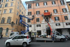 Opinión de la calle de Italia Roma Foto de archivo libre de regalías