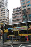 Opinión de la calle de la bahía del terraplén en Hong Kong Fotografía de archivo