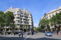 Opinión de la calle de la ciudad de Barcelona Imagen de archivo