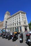 Opinión de la calle de la ciudad de Barcelona Imagenes de archivo