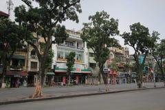 Opinión de la calle de Vietnam Hanoi Foto de archivo