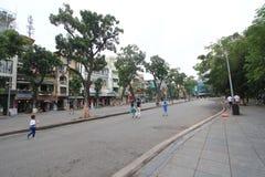 Opinión de la calle de Vietnam Hanoi Imagen de archivo libre de regalías