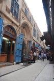 Opinión de la calle en El Cairo Fotos de archivo libres de regalías