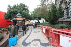 Opinión de la calle en Macao Fotografía de archivo libre de regalías