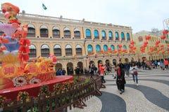 Opinión de la calle en Macao Foto de archivo libre de regalías