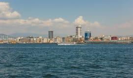 Opinión de la ciudad de Esmirna Fotos de archivo libres de regalías