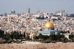 Opinión de la ciudad de Jerusalén Fotos de archivo libres de regalías