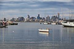 Opinión de la ciudad de Melbourne Fotografía de archivo