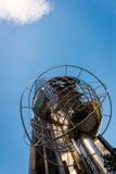 Opinión de la entrada del subterráneo de Columbus Circle de la torre del triunfo Imagen de archivo