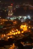 Opinión de la noche de El Cairo de la torre de El Cairo Imagen de archivo libre de regalías