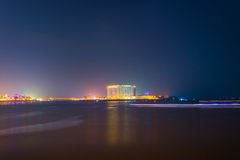 Opinión de la noche en Phnom Penh, Camboya Fotografía de archivo