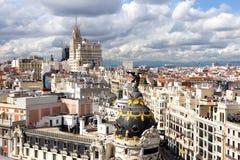 Opinión de Madrid Imagen de archivo libre de regalías