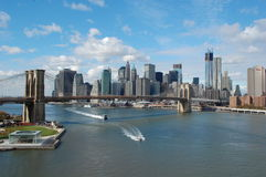 Opinión de Manhattan Imagen de archivo libre de regalías