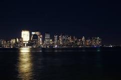 Opinión de Manhattan de la ciudad de Jersy Imagen de archivo libre de regalías