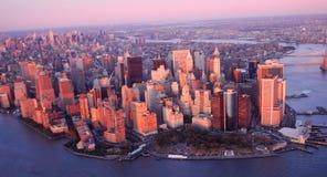 Opinión de New York City Fotografía de archivo