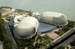 Opinión de ojo de pájaro de Singapur Imágenes de archivo libres de regalías