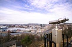 Opinión de Oslo Fotografía de archivo