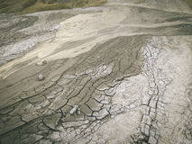Opinión de Selenar del vulcano del fango Fotografía de archivo
