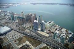 Opinión de Toronto a orillas del lago Fotos de archivo