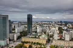 Opinión de Varsovia Fotografía de archivo libre de regalías